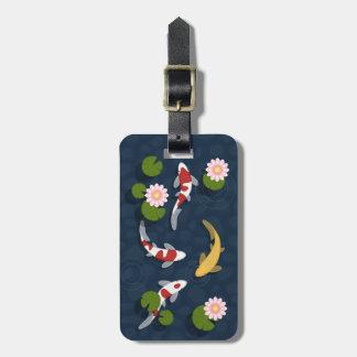Japaner Koi Fisch-Teich Gepäckanhänger
