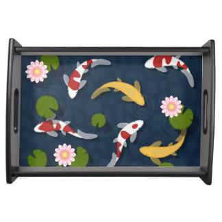 Japaner Koi Fisch-Teich Tablett