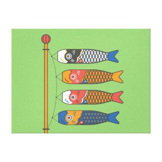 Japaner Koi KarpfenWindsocks Leinwanddruck