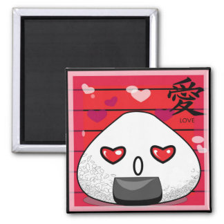 Japaner Manga Maskottchen Quadratischer Magnet