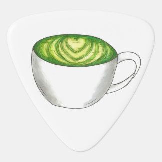 Japaner Matcha grüner Tee Latte Plektron
