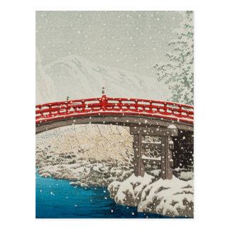 Japaner Ukiyoe Kunst (Hasui Kawase) Postkarte