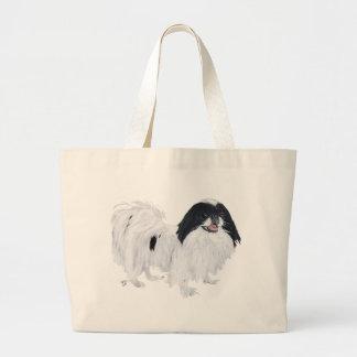 Japanerchin-Hund Jumbo Stoffbeutel