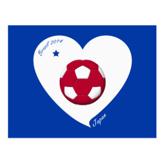 Japanese National Soccer Team Japan 2014 Nippon Postkarte