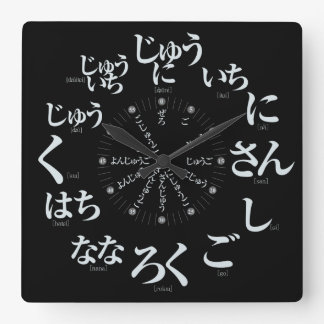 JapanHiraganaart [schwarzes Gesicht] Wanduhren