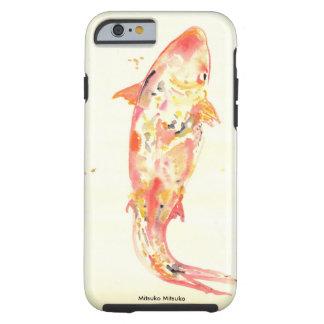 Japanische Art Koi Fische im Aquarell Tough iPhone 6 Hülle