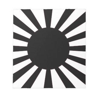 Japanische aufgehende Sonne-Flagge Notizblock