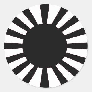 Japanische aufgehende Sonne-Flagge Runder Aufkleber