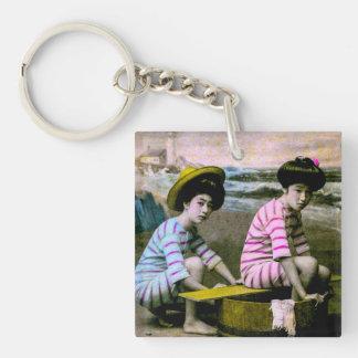 Japanische badenschönheits-Vintage Strand-Babys Schlüsselanhänger