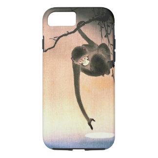 Japanische baumelnde Affe Woodblock Kunst Ukiyo-E iPhone 8/7 Hülle