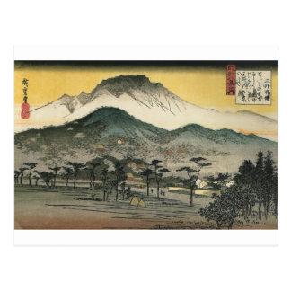 Japanische Berge circa 1800's Postkarte