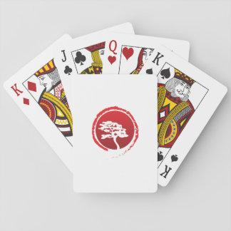 Japanische Bonsais-Baum-Japan-Traditions-Kultur Spielkarten
