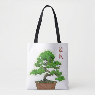 Japanische Bonsais-Baum-Taschen-Tasche Tasche