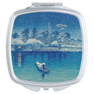Japanische Boote Taschenspiegel