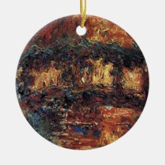 Japanische Brücke durch Claude Monet, Vintage Keramik Ornament