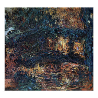 Japanische Brücke durch Claude Monet, Vintage Poster