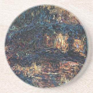 Japanische Brücke durch Claude Monet, Vintage Sandstein Untersetzer