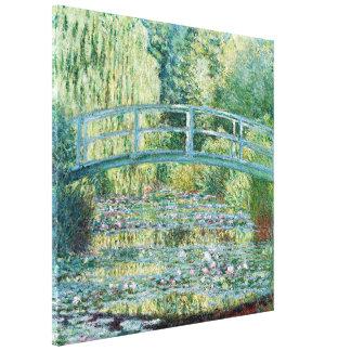 Japanische Brücke Monet Garten-Malerei Leinwanddruck