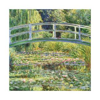 Japanische Brücken-Claude Monet-schöne Kunst Leinwanddruck