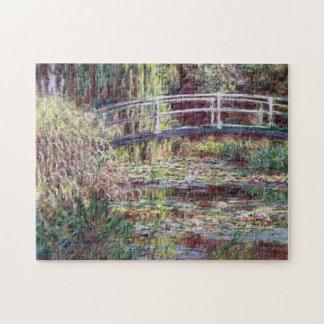 Japanische Brücken-Symphonie in Rose Monet feiner Puzzle