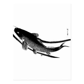 Japanische Fische Postkarte