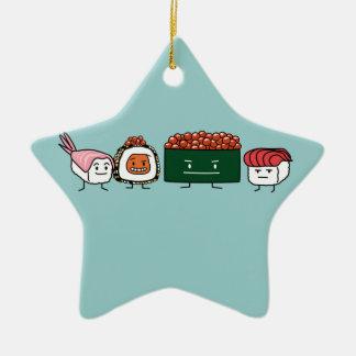 Japanische Garnelelachse des glücklichen Keramik Ornament