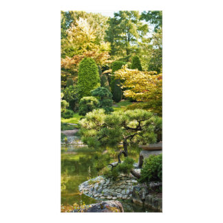 Japanische Garten-Foto-Karte Karte