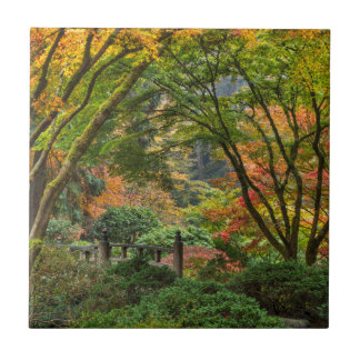 Japanische Gärten im Herbst in Portland, Oregon 4 Keramikfliese