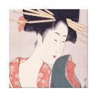 Japanische Geisha Leinwanddruck