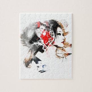 Japanische Geisha Puzzle