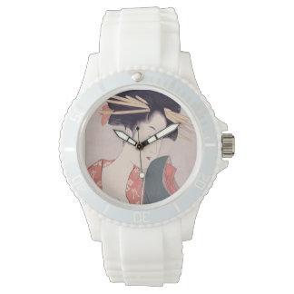 Japanische Geisha Uhr