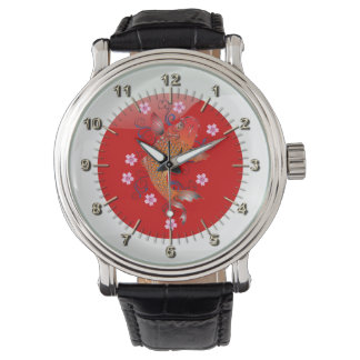Japanische glatte Flagge Armbanduhr