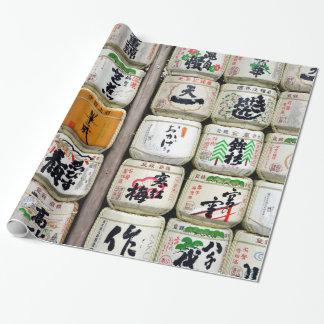 Japanische Grund-Fässer Geschenkpapier