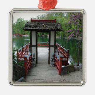 Japanische Inspiration Silbernes Ornament