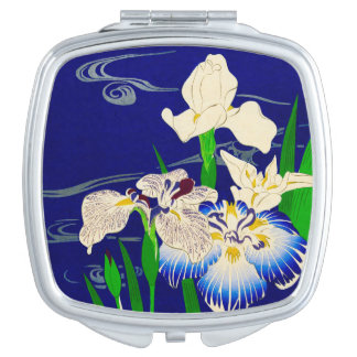 Japanische Iris Schminkspiegel