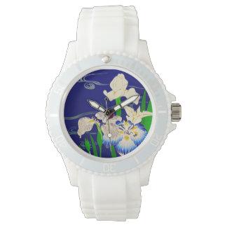 Japanische Iris Uhr