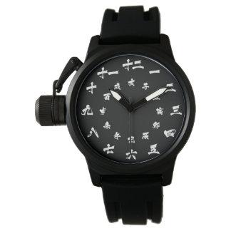 Japanische Kanji-Tierkreis-Uhr Uhr