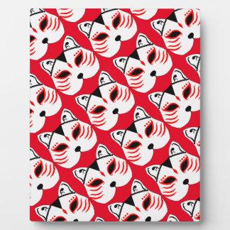 Japanische Katzenmaske Fotoplatte