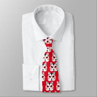 Japanische Katzenmaske Krawatte