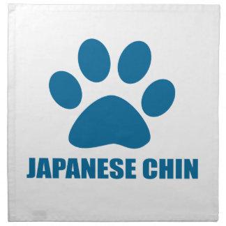 JAPANISCHE KINN-HUNDEentwürfe Stoffserviette