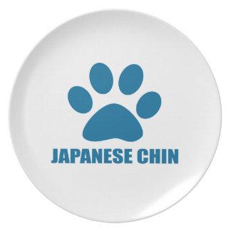 JAPANISCHE KINN-HUNDEentwürfe Teller
