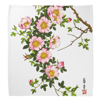 Japanische Kirschblüten, -ROSA und -gold Kopftuch