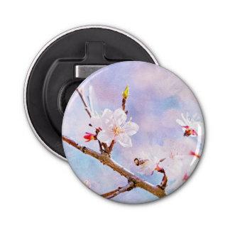 Japanische Kirsche - Kirschblüte in der Blüte Runder Flaschenöffner