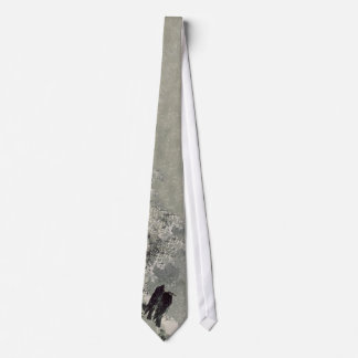 Japanische Krähen in der Schnee-Krawatte Bedruckte Krawatten