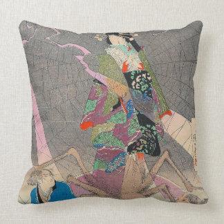 Japanische Kunst - Malerei einer japanischen Kissen