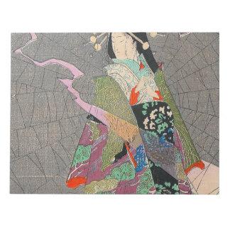 Japanische Kunst - Malerei einer japanischen Notizblock