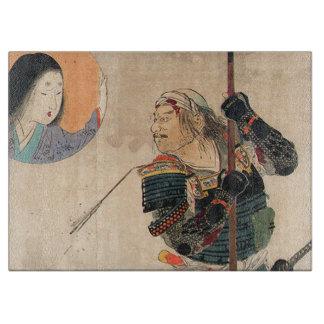 Japanische Kunst - Malerei eines Samurais und
