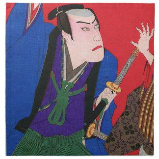 Japanische Kunst - Malerei eines verärgerten Bedruckte Servietten