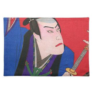 Japanische Kunst - Malerei eines verärgerten Tisch Sets
