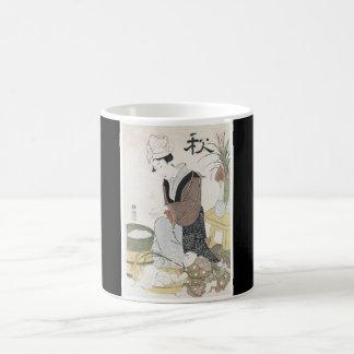 Japanische Kunstschale Malerei Tasse
